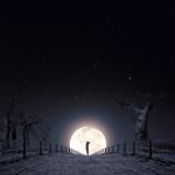 Luna Stampa fotografica di Luis Beltran