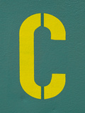 Capital Letter C on Wall. Photographic Print by Sabine Jacobs