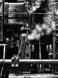 A Machine Emitting Steam Photographic Print by Rip Smith