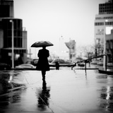 Another Lonely Day in the Rain Photographic Print by Sharon Wish