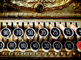 Vinatge Cash Register, Connecticut, Usa Photographic Print by Sabine Jacobs