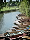 Punting Awaits Photographic Print by Tim Kahane