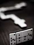 Playing Domino Photographic Print by Bruno Abarco