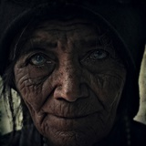 The Face of an Old Woman Photographic Print by Marco Diaz