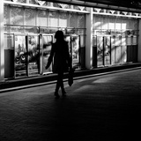 The Lone Shopper Photographic Print by Sharon Wish