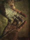 Damaged Hands Photographic Print by Marco Diaz