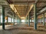 Hdr of Disused Factory Interior Photographic Print by Rip Smith