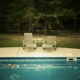 Pool Side Photographic Print by Janet Matthews