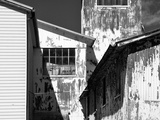 Redundant Factory Buildings with Peeling Paint Photographic Print by Rip Smith