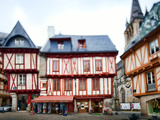 Henry Iv Square, Town of Vannes, Departament De Morbihan, Brittany, France Photographic Print by Felipe Rodriguez