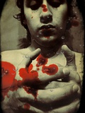 A Young Man with Blood on His Hands Photographic Print by Marco Diaz