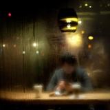 Late Night Coffee and Steamy Windows Photographic Print by Sharon Wish