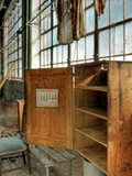 A Deserted Factory Building with Calender Photographic Print by Rip Smith