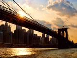 Brooklyn Bridge and Skyline, Manhattan, New York City Photographic Print by Sabine Jacobs