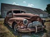 Stephen Arens - Red Buick - Fotografik Baskı
