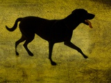 A Silhouette of a Short Haired Dog Photographic Print by Susan Bein