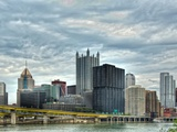 High Rise Building Across the River in Pittsburgh Photographic Print by Rip Smith