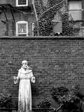 A Religious Sculpture in a Back Yard Photographic Print by Rip Smith