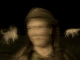 The Blurred Face of a Woman with Two Dogs Photographic Print by Susan Bein