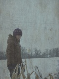 Young Girl Outdoors in the Snow Photographic Print by Tim Kahane