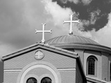 A Church with Two Crosses Photographic Print by Rip Smith