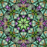 Green Star Flower Mandala Photographic Print by Alaya Gadeh