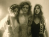 Romantic, Nostalgic Lith Portrait of Three Young Women Photographic Print by Susan de Witt