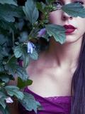 Purple Lips Photographic Print by Clarissa Costa