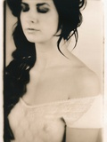 Romantic, Soft Lith Portrait of Young Woman, Eyes Closed Photographic Print by Susan de Witt