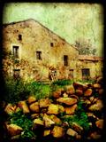 An Old Spanish House with Stone in the Foreground Photographic Print by Cristina Carra Caso
