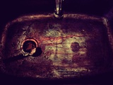 A Dirty Wash Basin Photographic Print by Marco Diaz