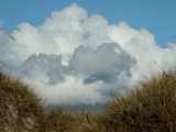 Grassy Sand Dunes and Clouds Photographic Print by Katrin Adam