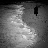 Walk Along the Shore Photographic Print by Sharon Wish