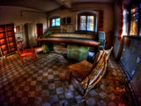 Old Room Interior With Tatty Chairs Photographic Print by Nathan Wright