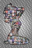 Bettie Page Silhouette - Poster