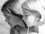 Two Young Girls in Profile Photographic Print by Tanneke Peetoom