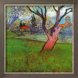 Vue D'Arles Avec Arbres En Fleurs Prints by Vincent van Gogh