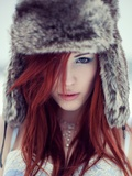 Fur Hat Photographic Print by Josefine Jonsson