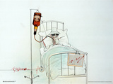 Hunter on Whiskey Drip Prints by Ralph Steadman