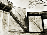 Stairway on the Outside of a Building Photographic Print by Katrin Adam