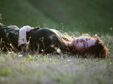 Girl in Grass Photographic Print by Clarissa Costa