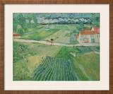 Landscape With Carriage and Train Framed Giclee Print by Vincent van Gogh