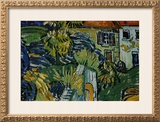 Detail of Stairway at Auvers Framed Giclee Print by Vincent van Gogh
