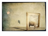 A Sheep, Picture Frame and Balloon Photographic Print by Mia Friedrich