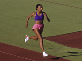 Black Woman During Training Run Photographic Print