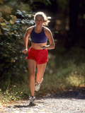 Female Runner Out on the Trails Photographic Print