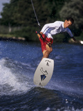 Young Male Water Skier in Action Photographic Print