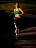 Young Woman Running for Exercise Photographic Print