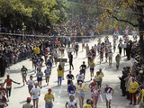Runners in Central Park During the 1982 New York City Marathon Photographic Print