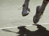 Detail of Ivan Lendl's (USA) Feet During a Serve at the 1987 US Open Tennis Championships Photographic Print